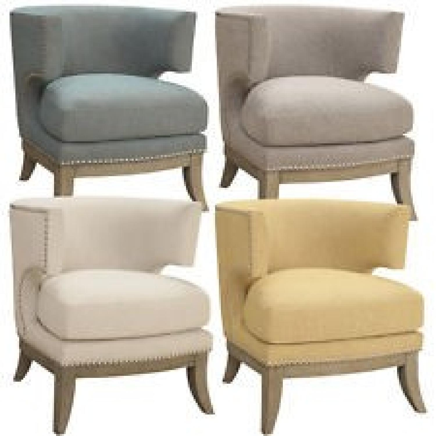 Groovy Barrel Back Modern Upholstered Accent Chair In Grey Chenile Bralicious Painted Fabric Chair Ideas Braliciousco