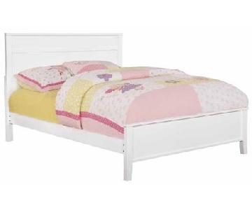 Full Size White Platform Bed Frame