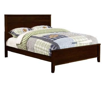 Twin Size Cappuccino Finished Platform Bed