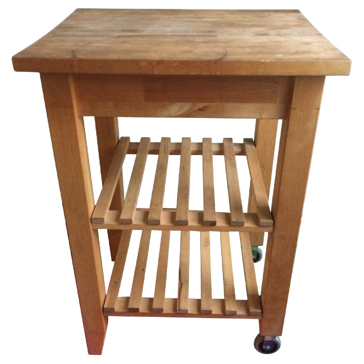 Picture of: Ikea Bekwam Solid Wood Kitchen Cart Island Aptdeco