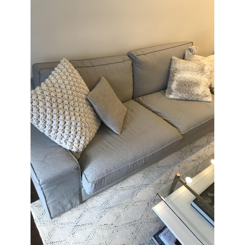 Incredible Ikea Kivik Grey Sofa Aptdeco Pabps2019 Chair Design Images Pabps2019Com
