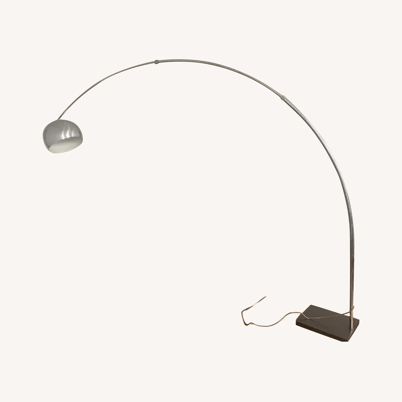 Mid-Century Chrome Arc Lamp