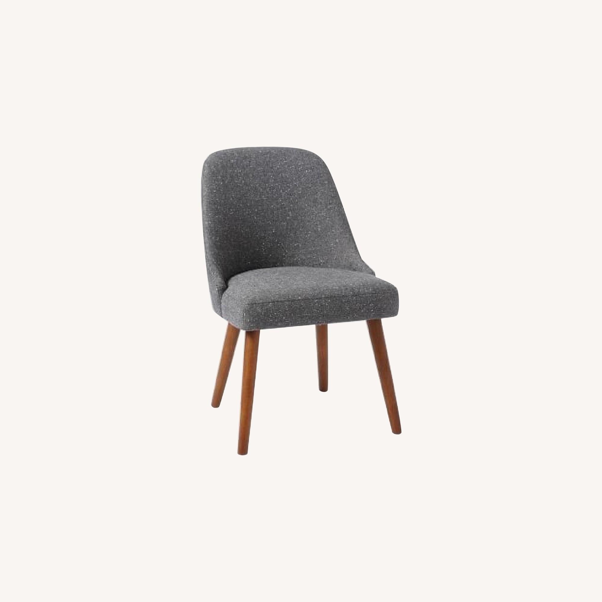 West Elm Mid Century Dining Chair in Salt & Pepper Tweed