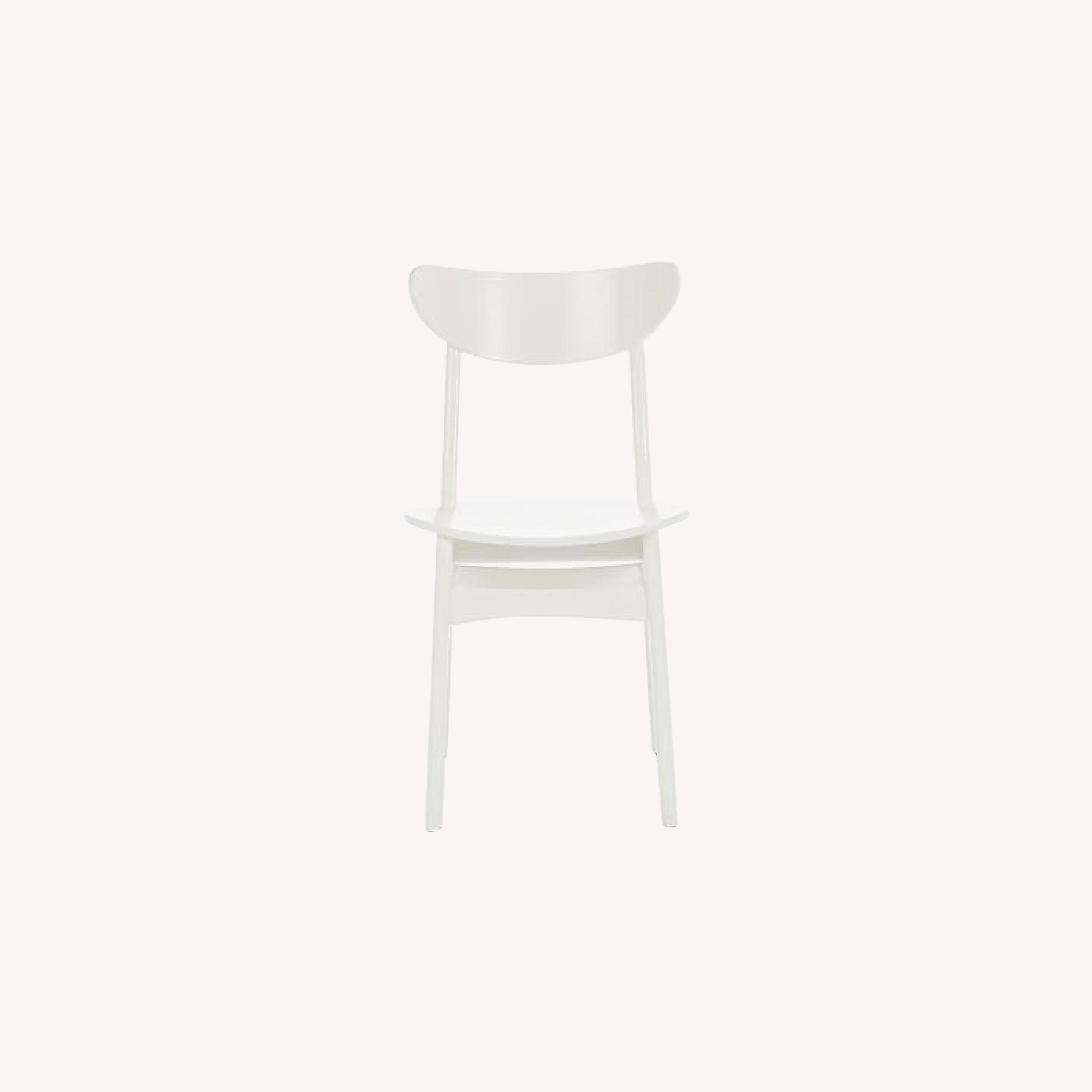 West Elm Classic Cafe Dining Chair in White Lacquer