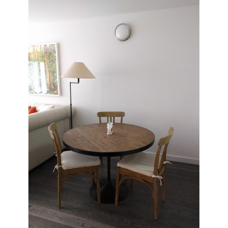 Restoration Hardware Round Wood Dining Table