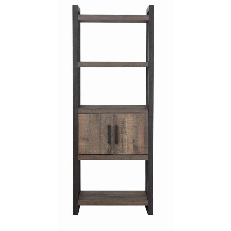 Rustic Bookcase w/ 2-Doors - image-1