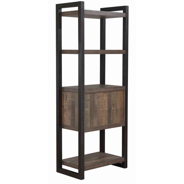 Rustic Bookcase w/ 2-Doors - image-2