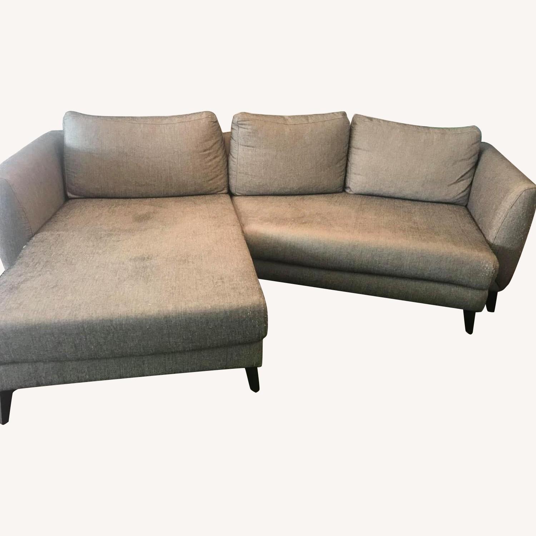 BoConcept 2-Piece Grey Sectional Sofa