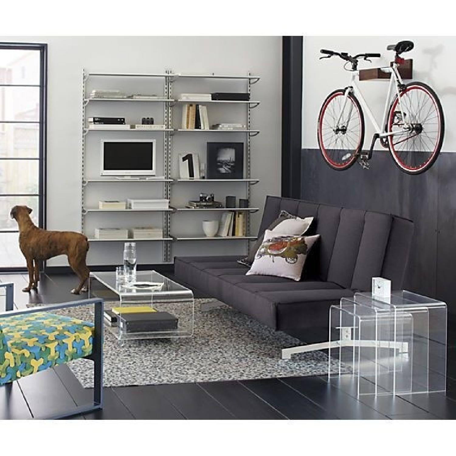 Admirable Cb2 Peekaboo Acrylic Media Console Coffee Table W Casters Unemploymentrelief Wooden Chair Designs For Living Room Unemploymentrelieforg
