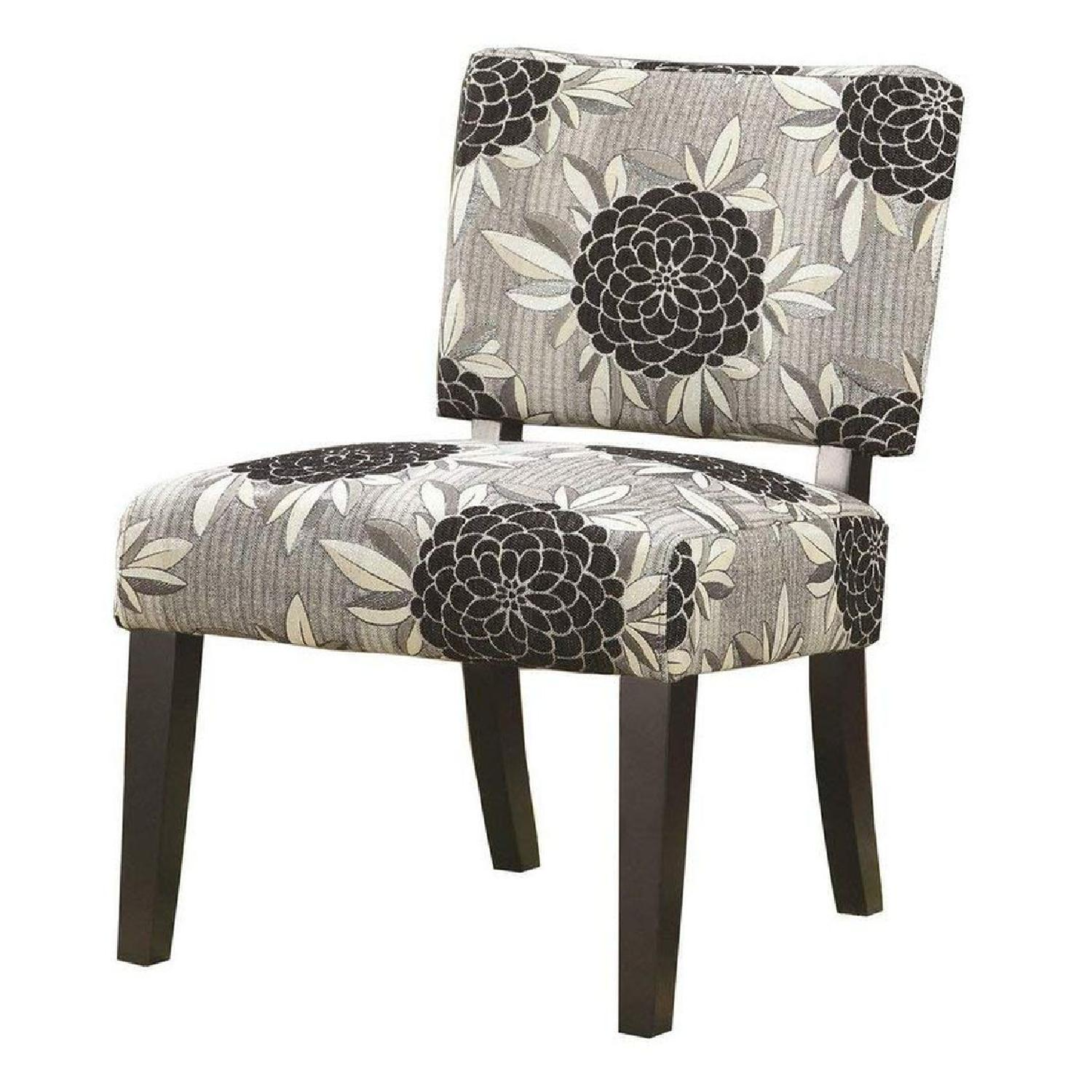 Accent Chair Upholstered W Floral Print Fabric Aptdeco