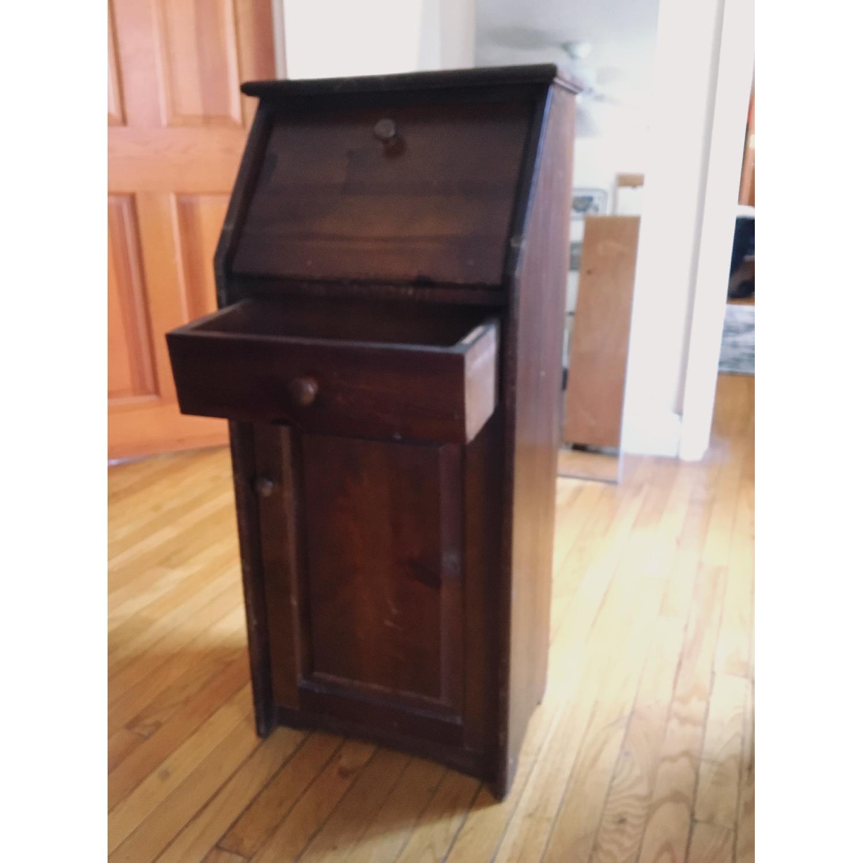 Vintage Mid Century Wood Secretary Desk Aptdeco