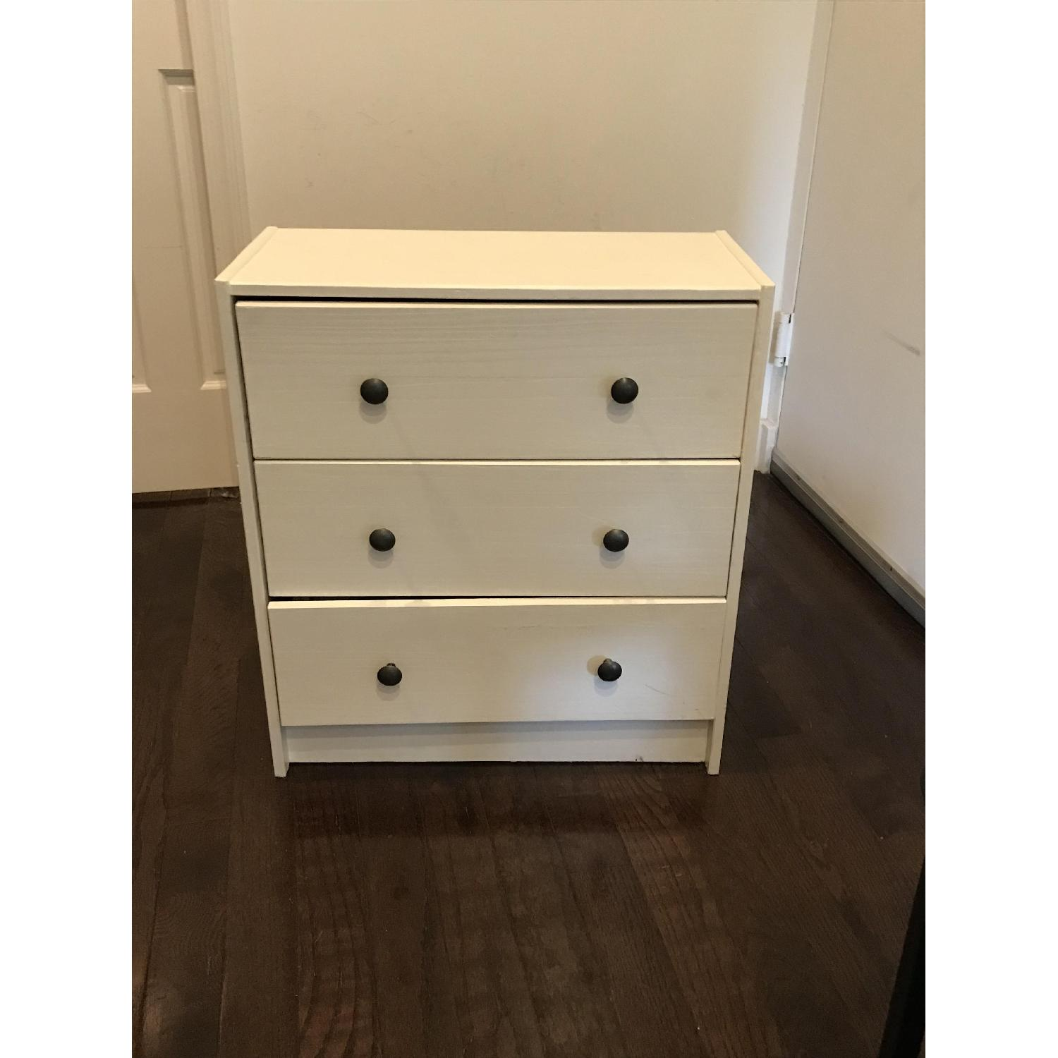 3 Drawer White Dresser Aptdeco