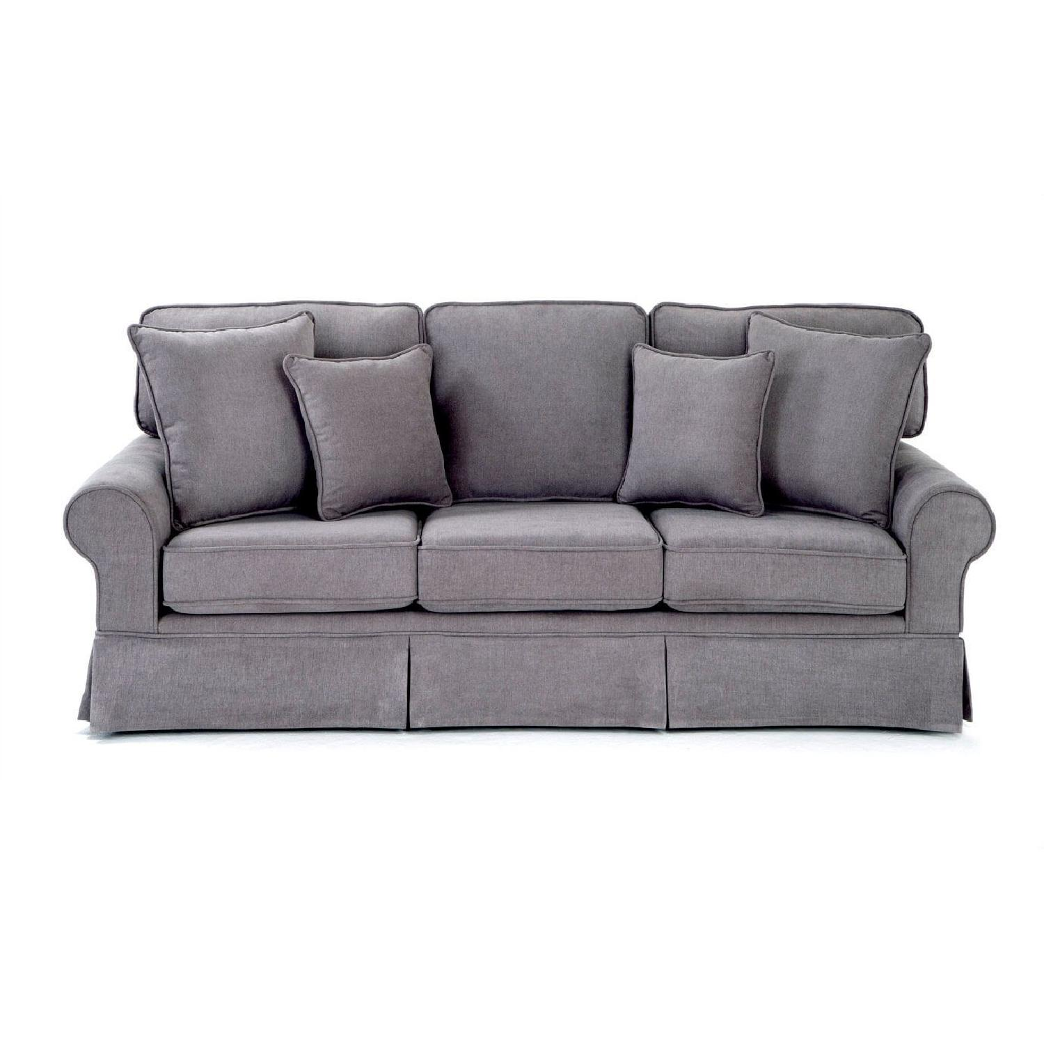 Bob S Dark Gray Fabric Sleeper Sofa Aptdeco