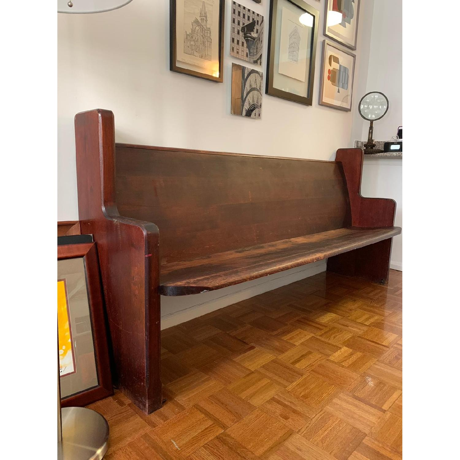 Astounding Antique Church Pew Bench Aptdeco Caraccident5 Cool Chair Designs And Ideas Caraccident5Info