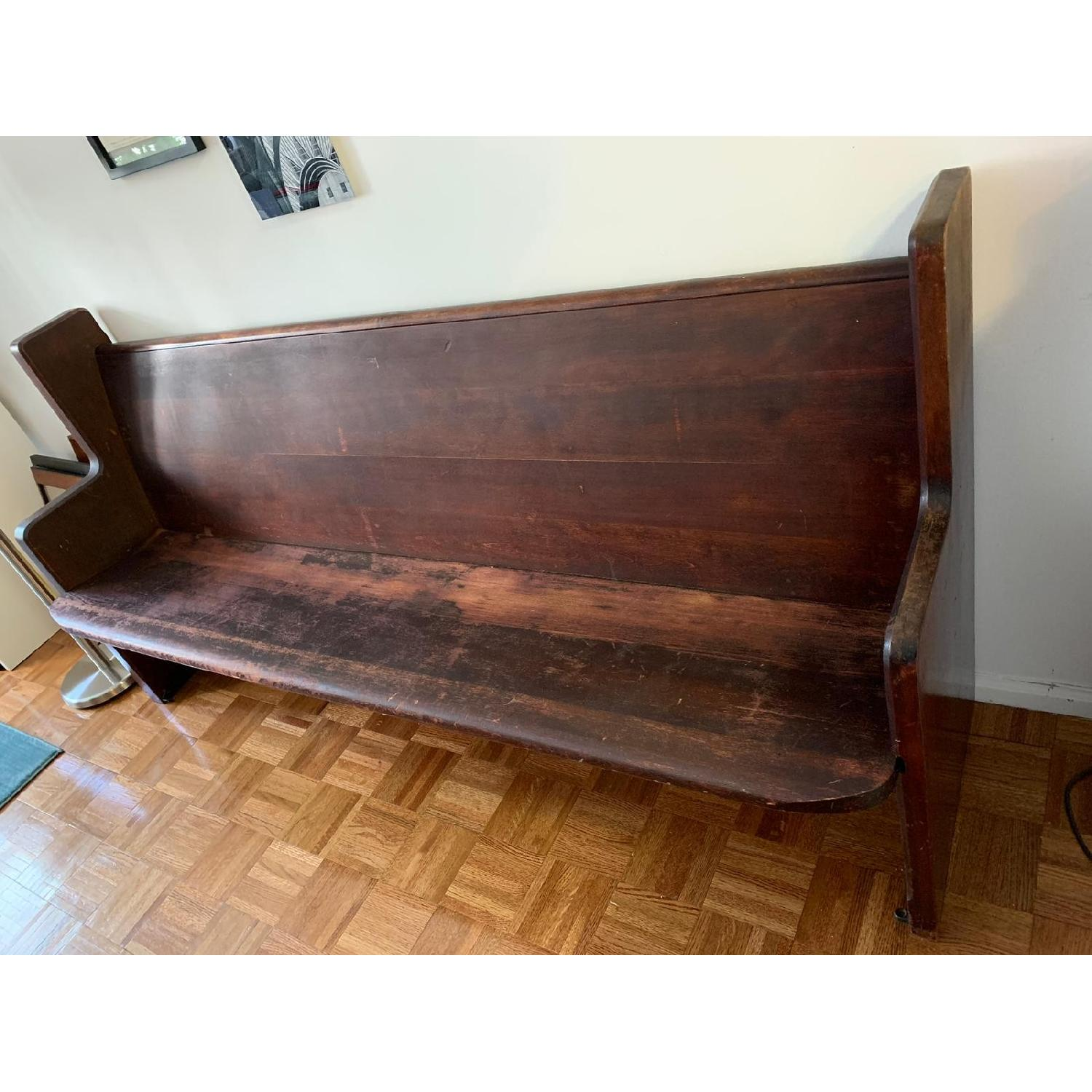 Stupendous Antique Church Pew Bench Aptdeco Caraccident5 Cool Chair Designs And Ideas Caraccident5Info
