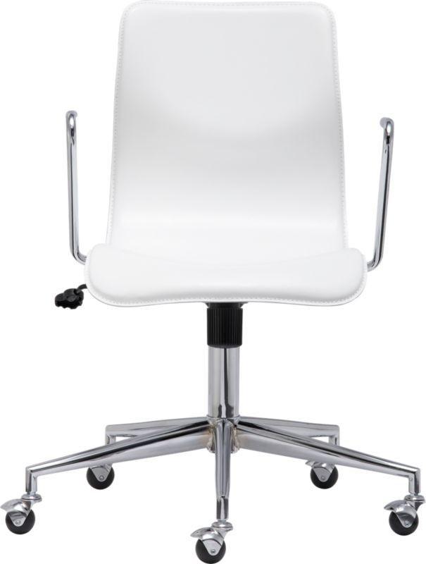 CB2 White Office Chair