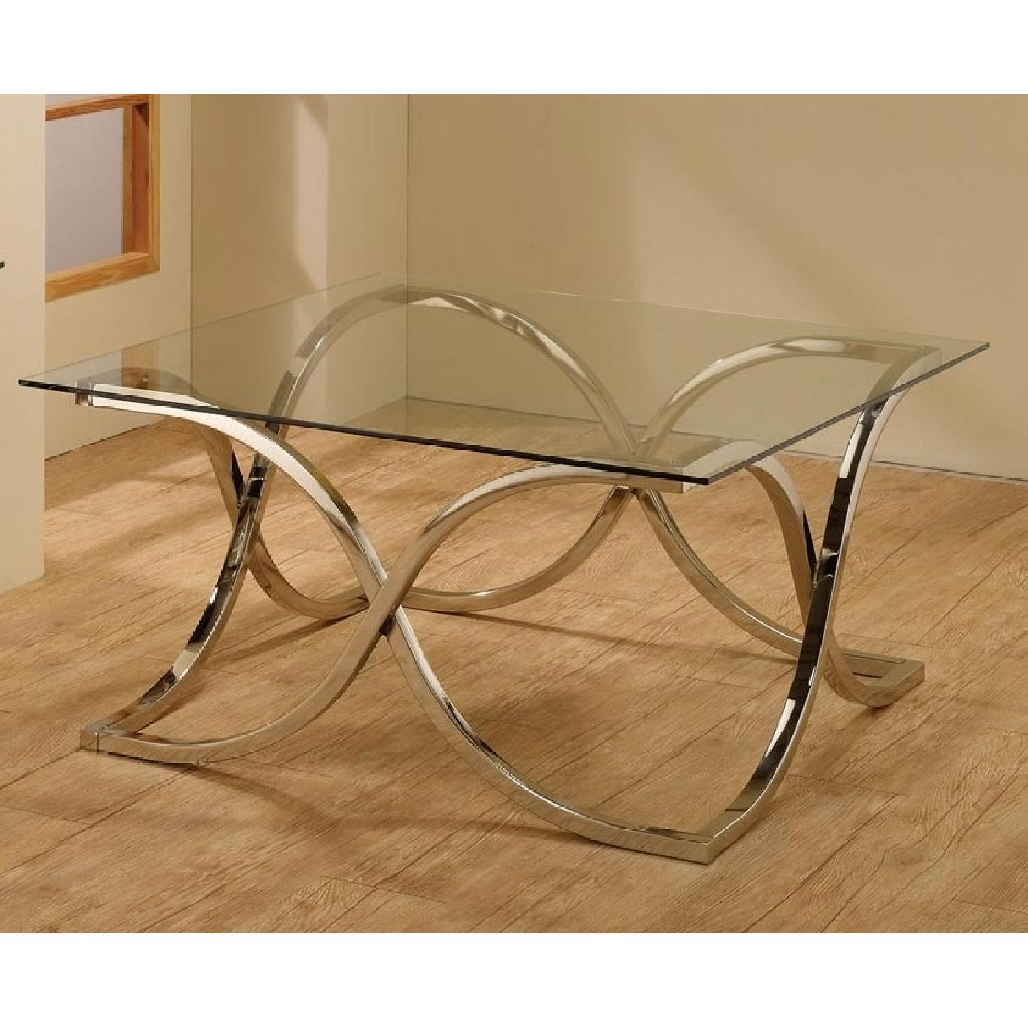 Delicieux Coffee Table W/ Tempered Glass Top U0026 Artistic Metal Base