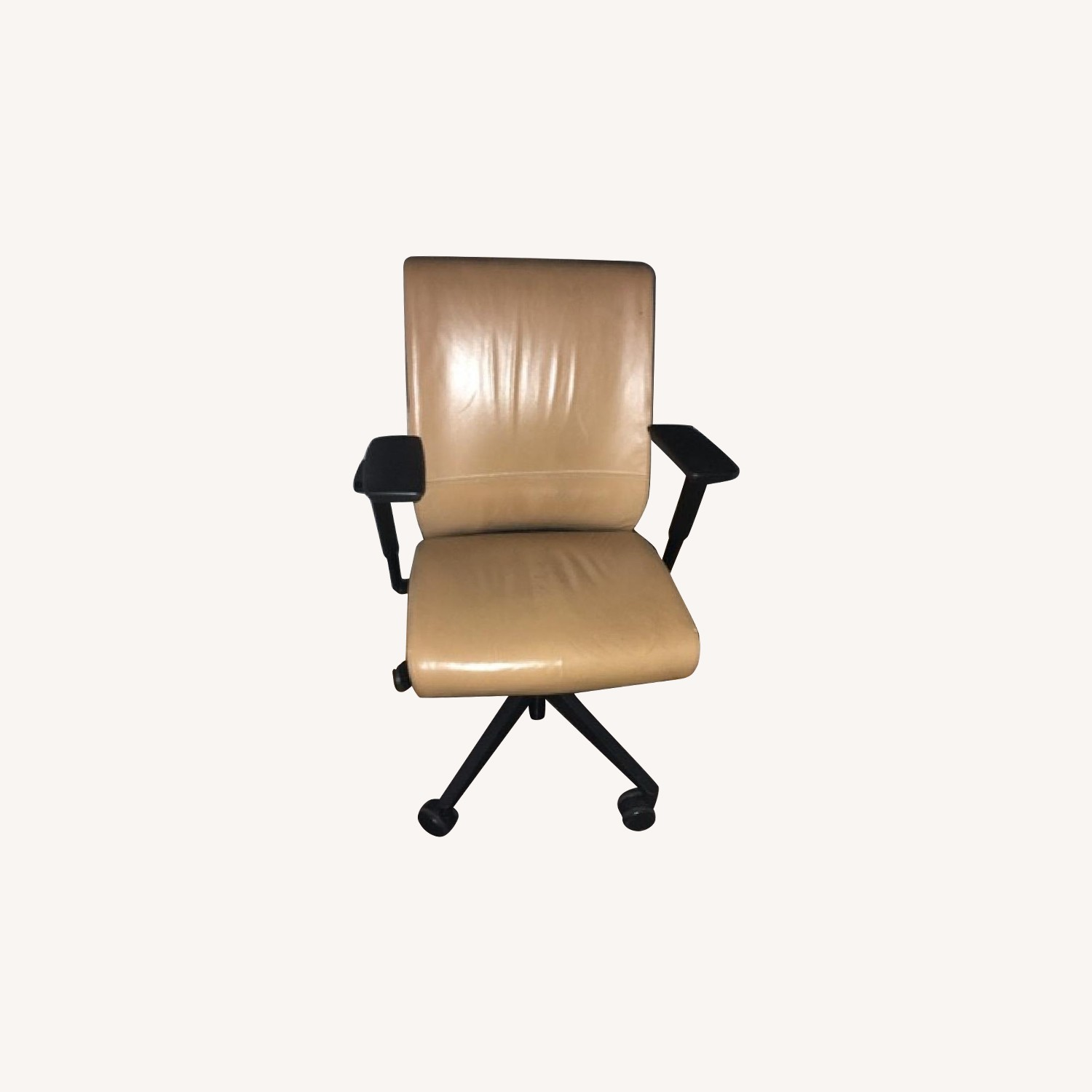 Steelcase Camel Faux Leather Office Chair w/ Lumbar Support