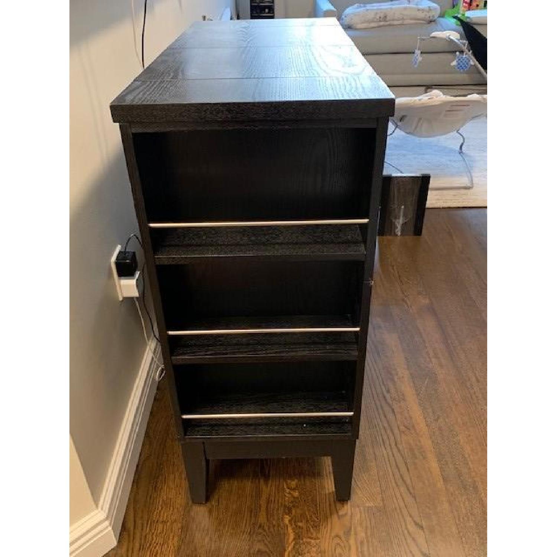 Crate Amp Barrel Parker Ebony Spirits Cabinet Aptdeco