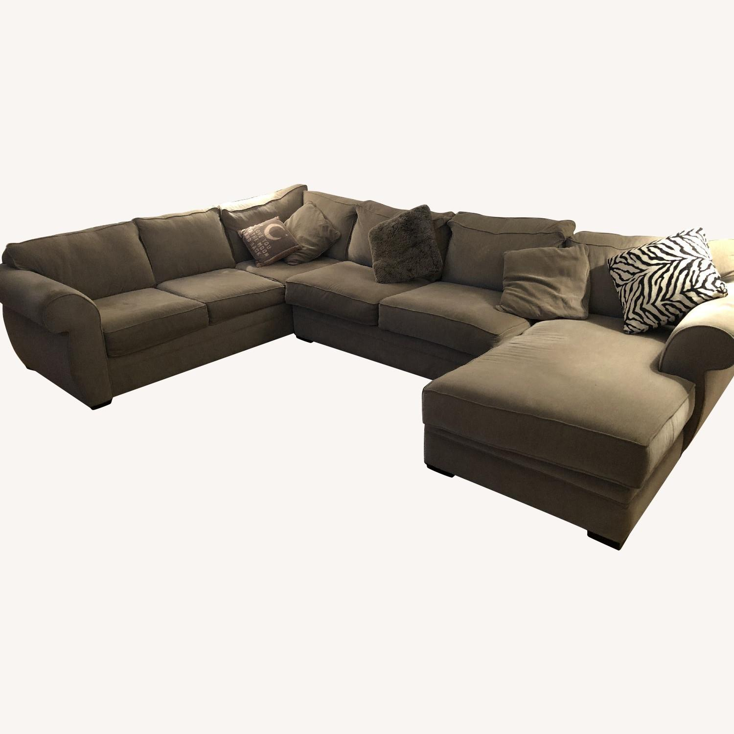 Incredible Macys 3 Piece Beige Fabric Chaise Sectional Sofa Aptdeco Gamerscity Chair Design For Home Gamerscityorg