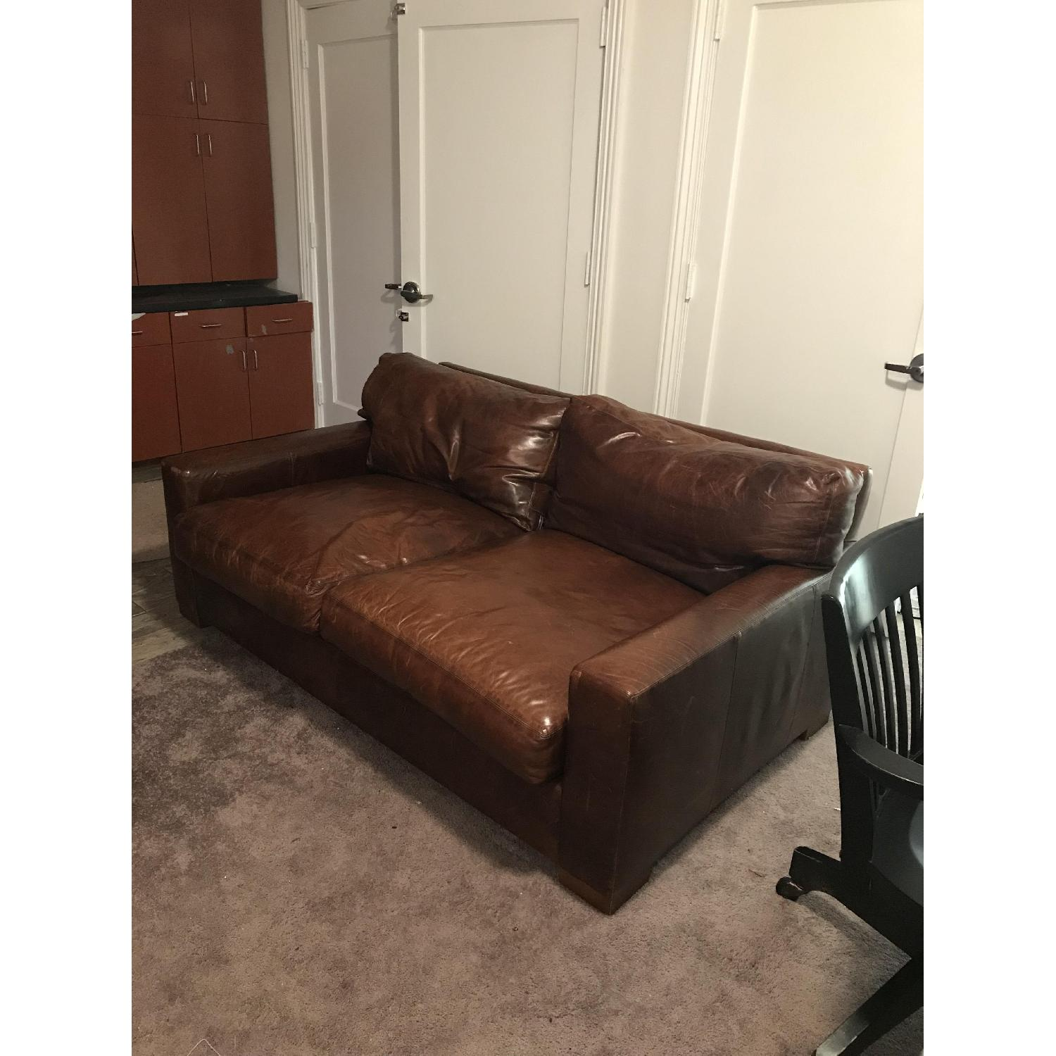 Cool Restoration Hardware Maxwell Leather Sofa Aptdeco Evergreenethics Interior Chair Design Evergreenethicsorg
