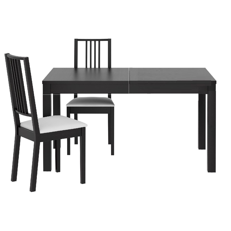 Ikea Bjursta Extendable Dining Table W 2 Borje Chairs Aptdeco
