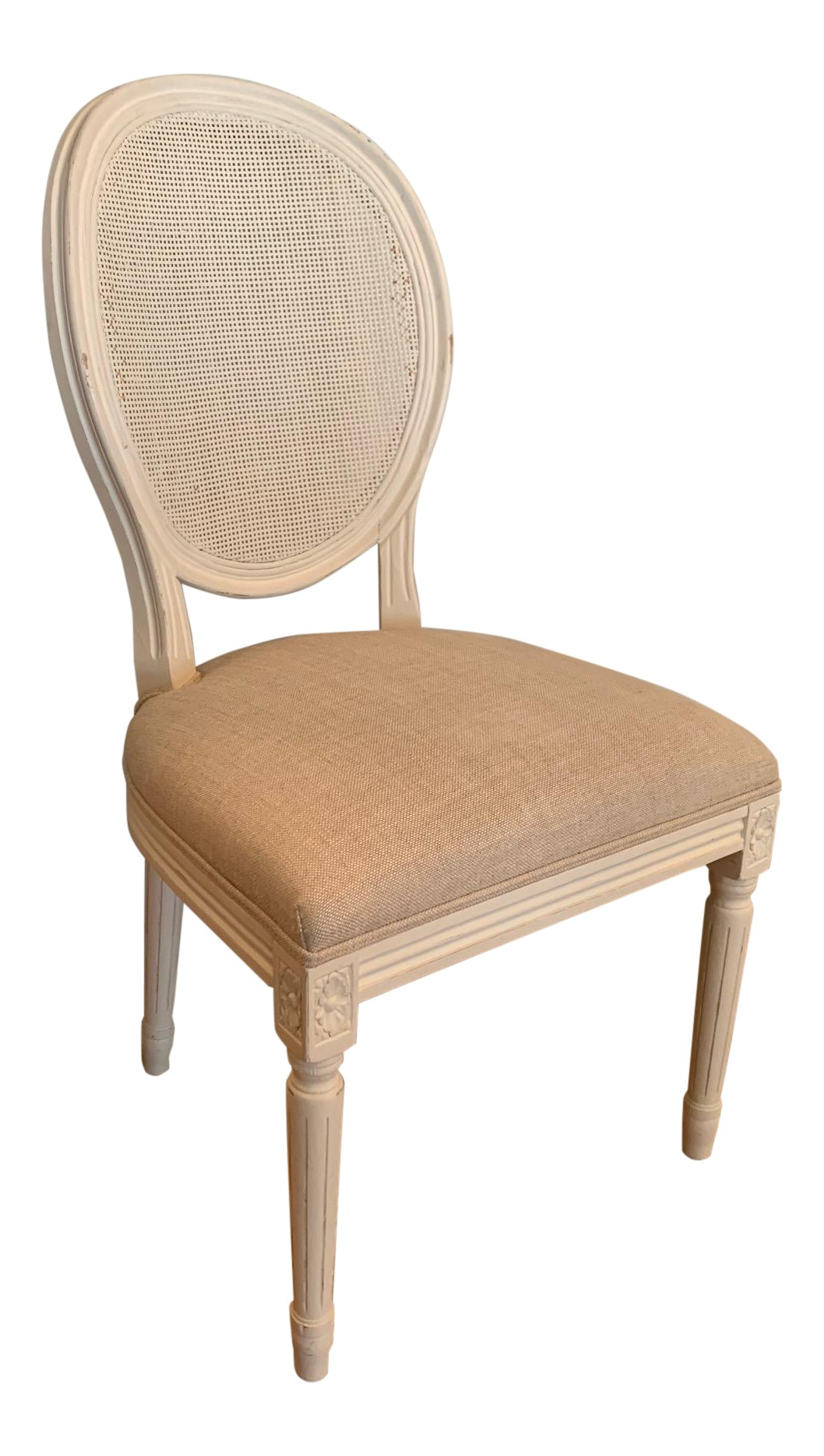 Restoration Hardware Vintage French Round Cane Back Chairs