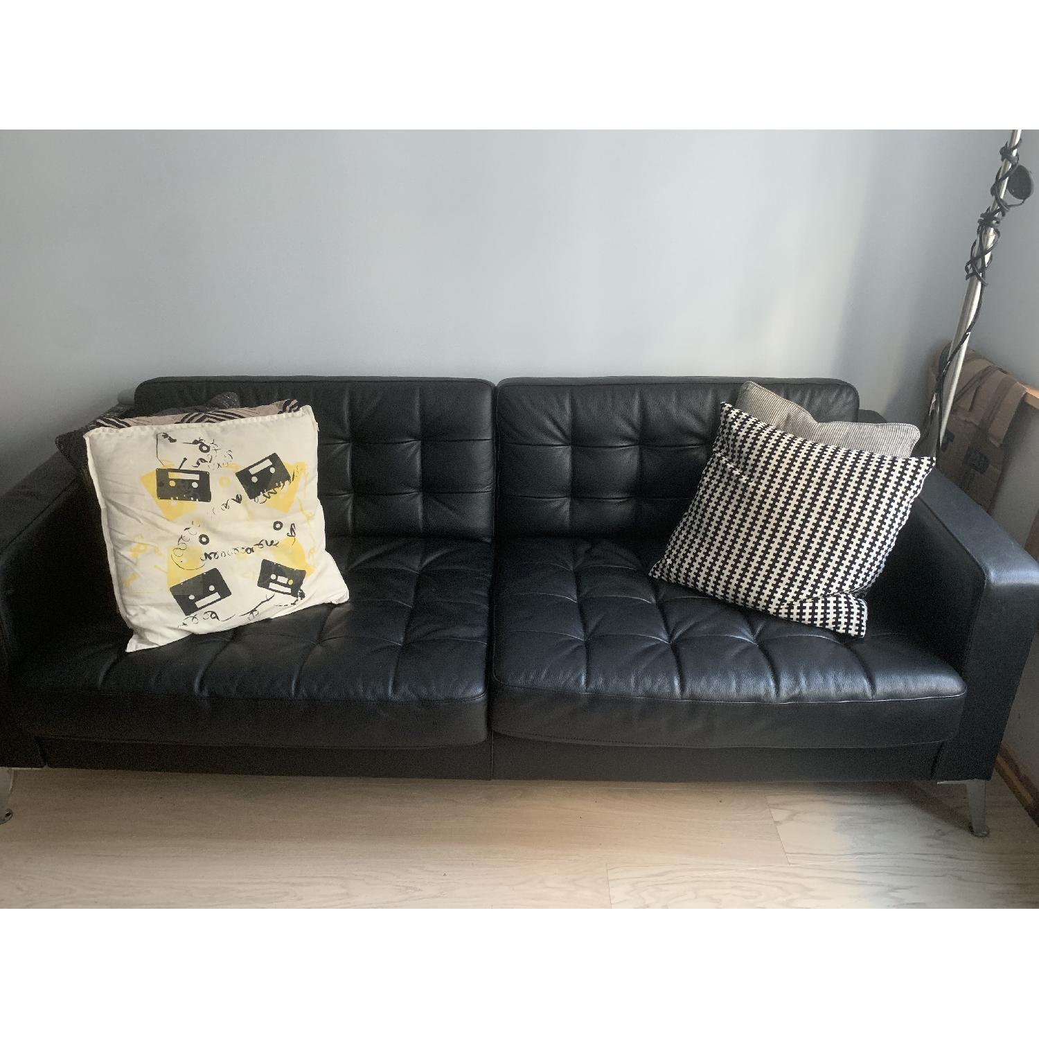 Excellent Ikea Landskrona Leather Sofa Aptdeco Creativecarmelina Interior Chair Design Creativecarmelinacom