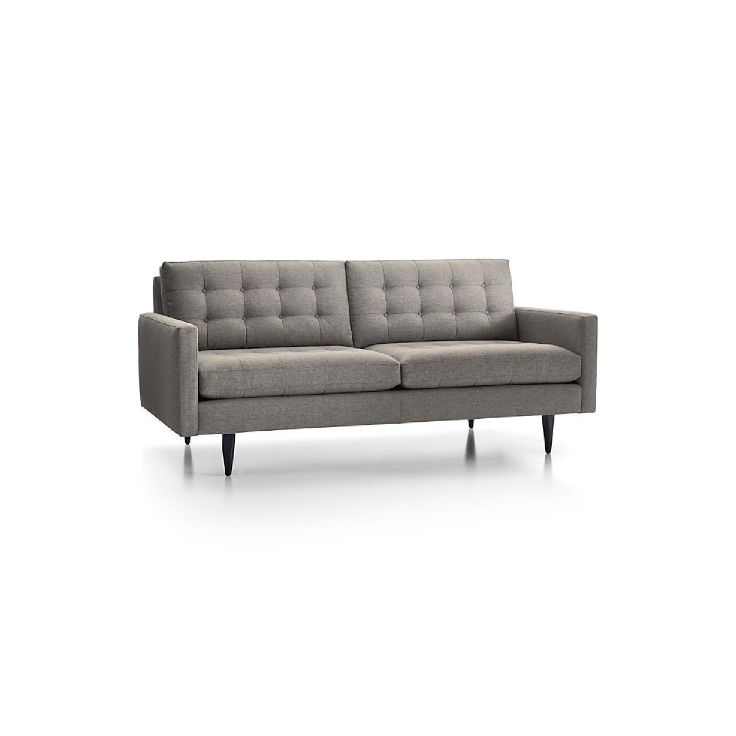 Peachy Crate Barrel Petrie Mid Century Sofa In Gray Aptdeco Pabps2019 Chair Design Images Pabps2019Com