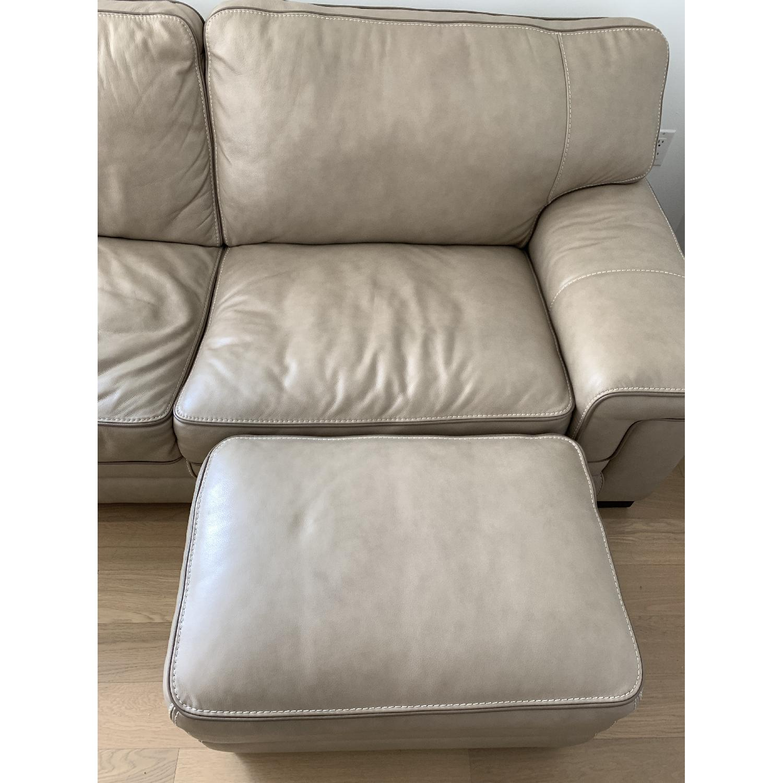 Miraculous Macys Myars Leather Sofa Ottoman Aptdeco Gmtry Best Dining Table And Chair Ideas Images Gmtryco
