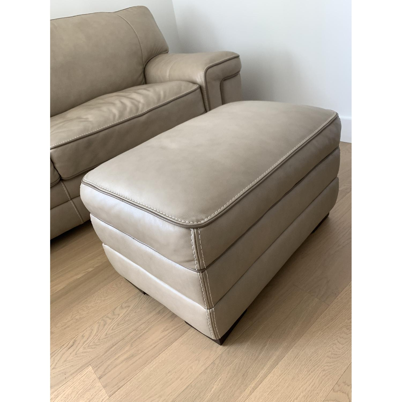 Groovy Macys Myars Leather Sofa Ottoman Aptdeco Gmtry Best Dining Table And Chair Ideas Images Gmtryco
