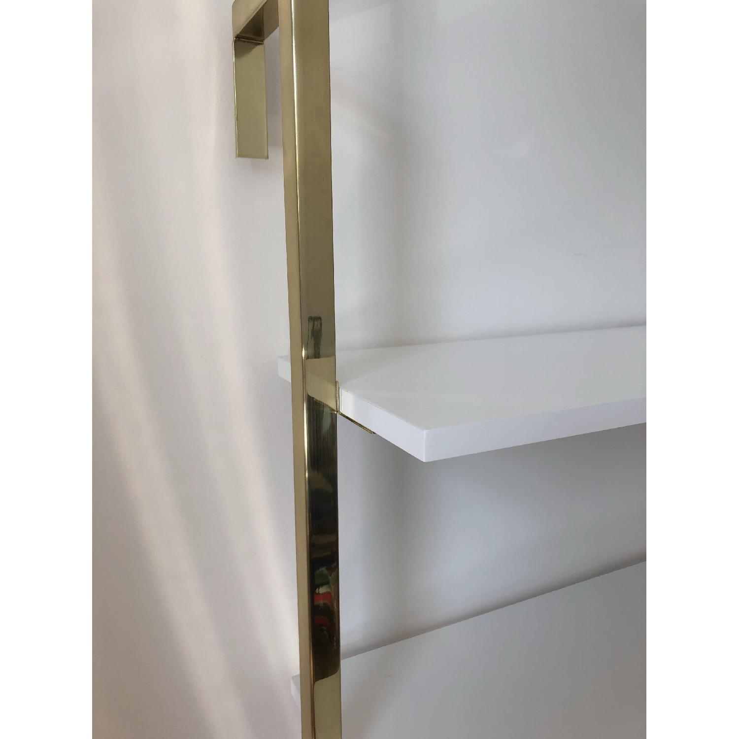 Pottery Barn Olivia Wall Mounted Shelves In Brass Aptdeco