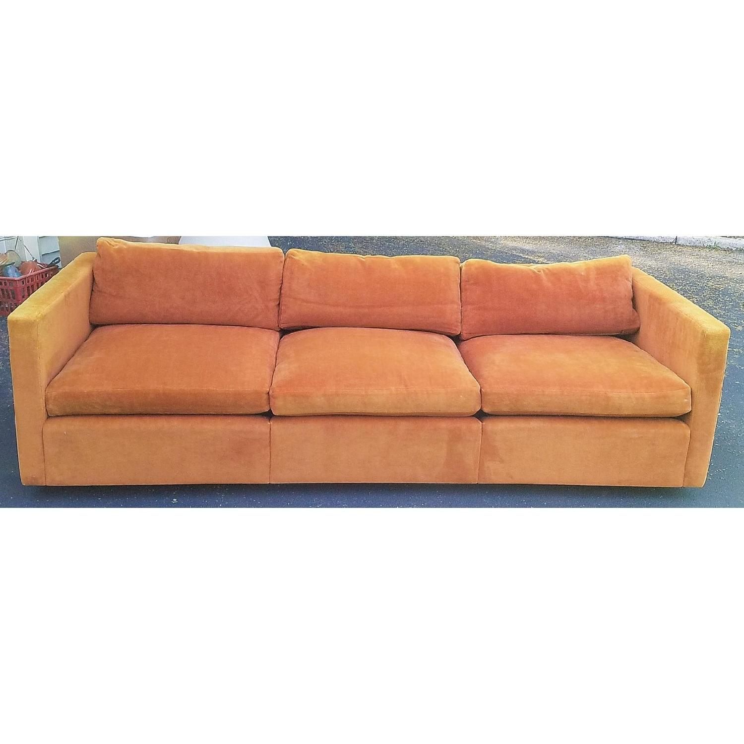 Groovy Knoll 1970S Mid Century Modern Burnt Orange Sofa Aptdeco Machost Co Dining Chair Design Ideas Machostcouk