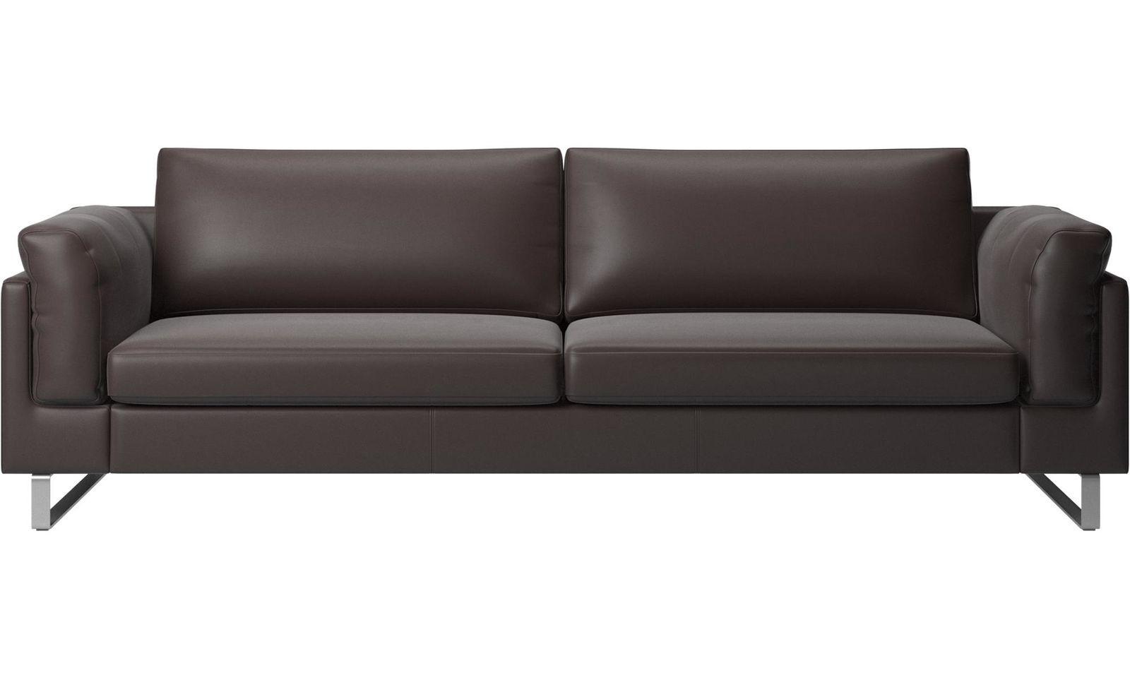 BoConcept Dark Brown Leather Sofa