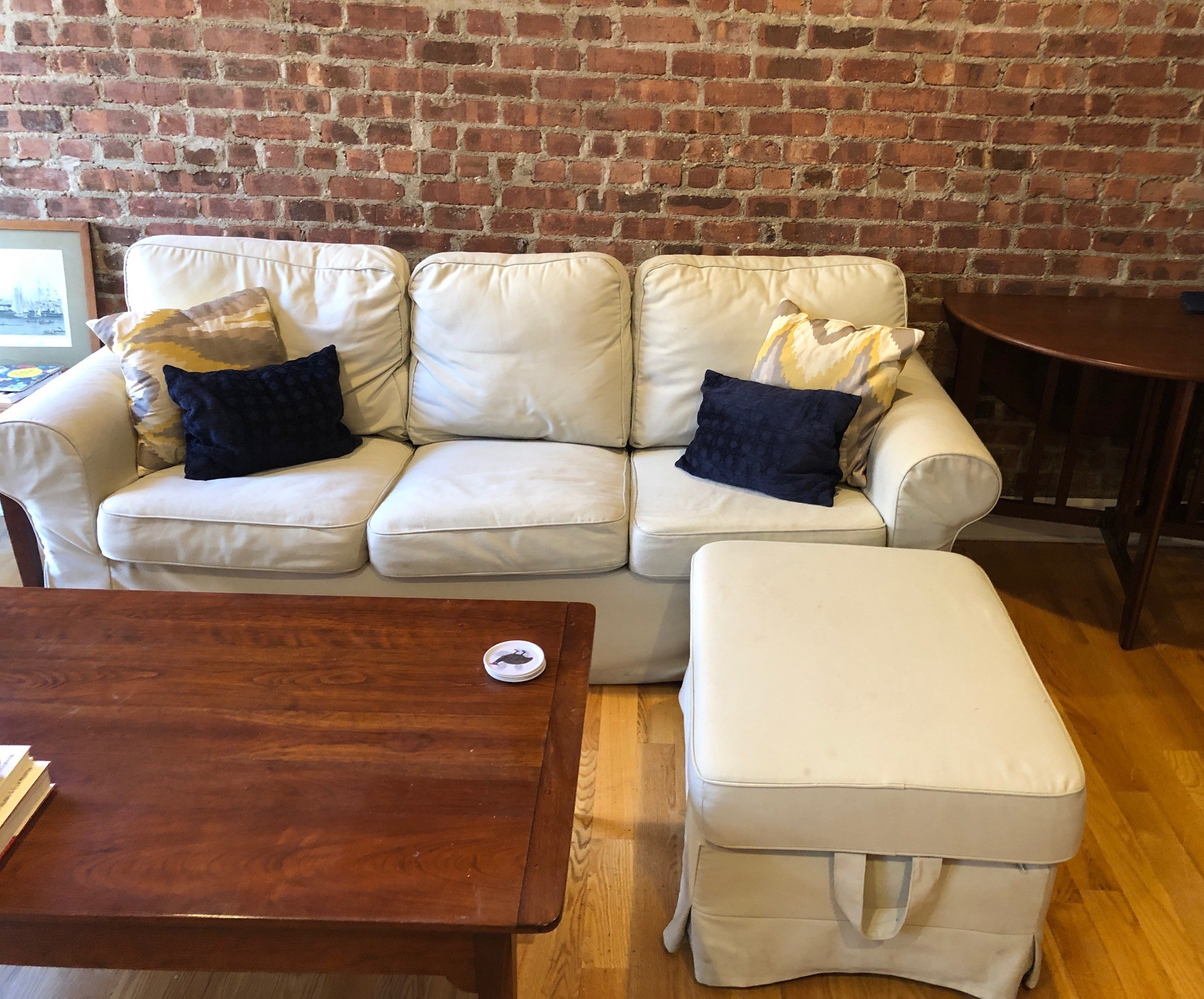 Outstanding Ikea Three Seat Sofa Ottoman Aptdeco Ocoug Best Dining Table And Chair Ideas Images Ocougorg
