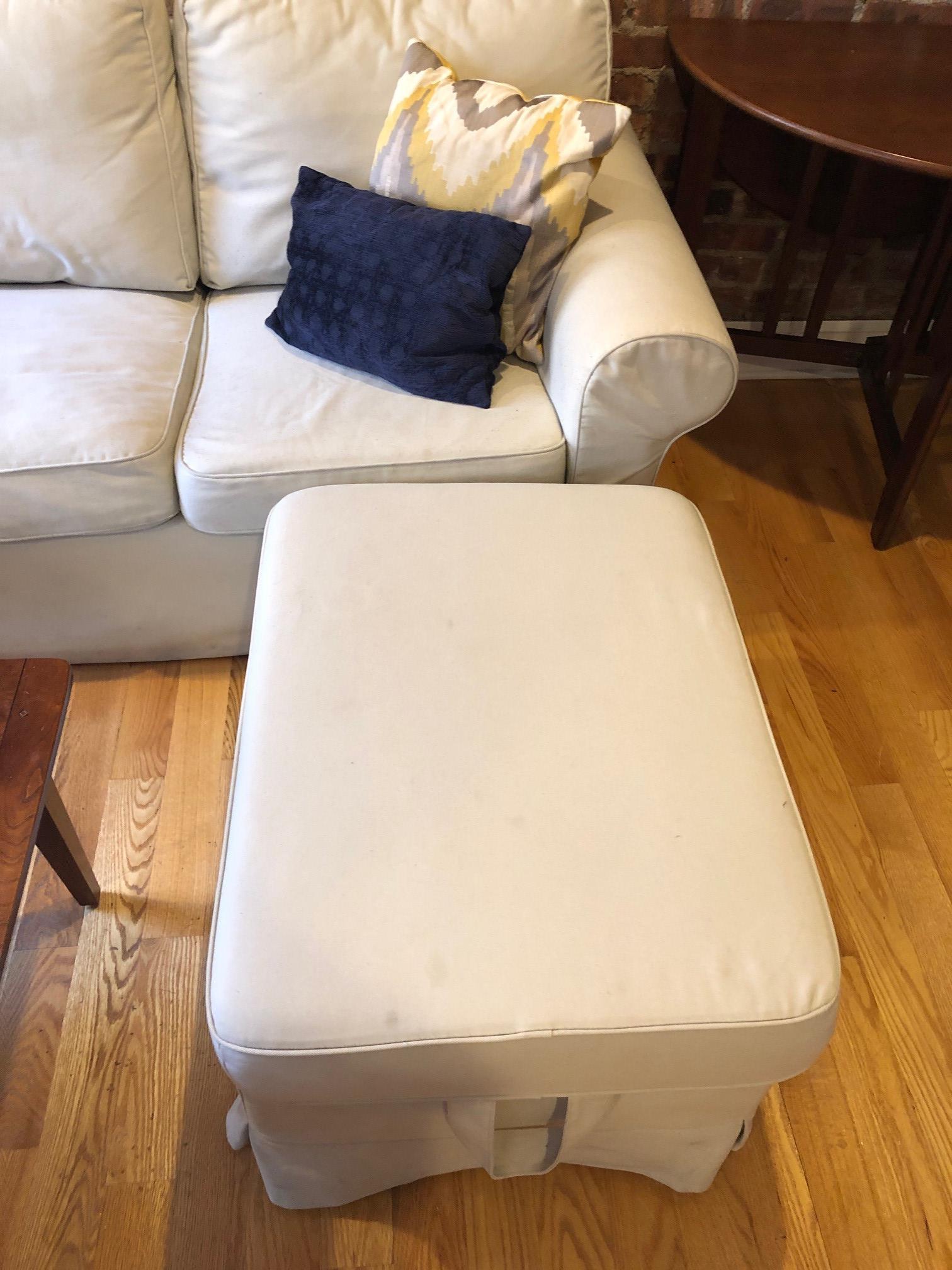 Super Ikea Three Seat Sofa Ottoman Aptdeco Inzonedesignstudio Interior Chair Design Inzonedesignstudiocom