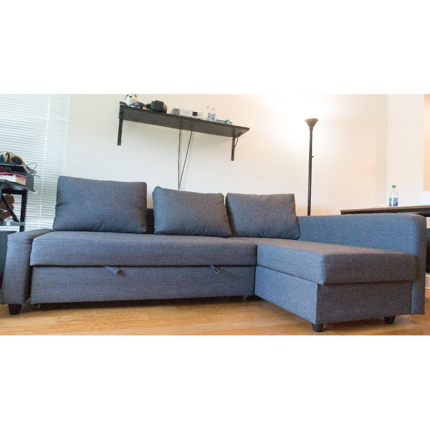 Sensational Ikea Friheten Sleeper Sectional Sofa W Storage Aptdeco Machost Co Dining Chair Design Ideas Machostcouk