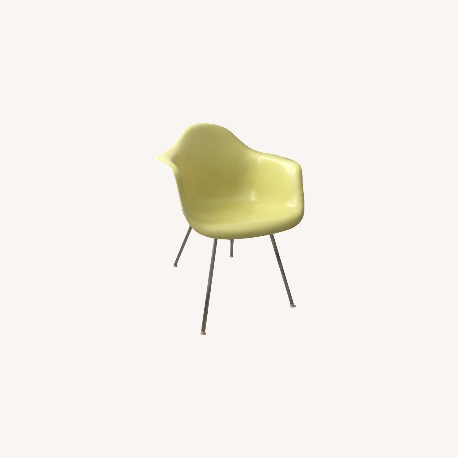 Herman Miller Vintage Yellow Eames Shell Armchair