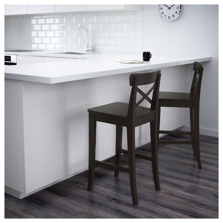 Ikea Ingolf Barstools W Backrest