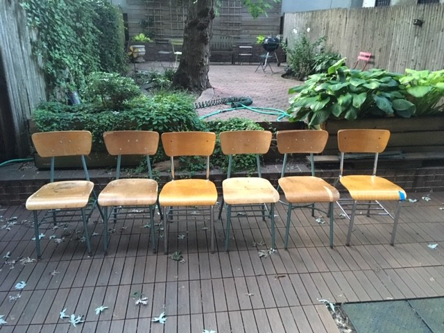 Design Within Reach Dining Table w/ 6 Vintage Chairs