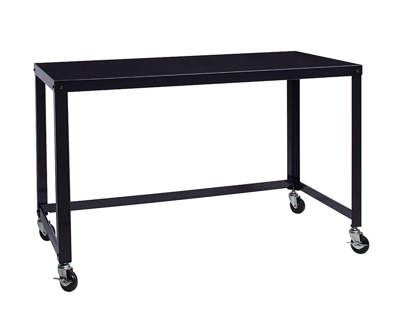 Office Dimensions 21647 Black RTA Mobile Metal Desk & Chair