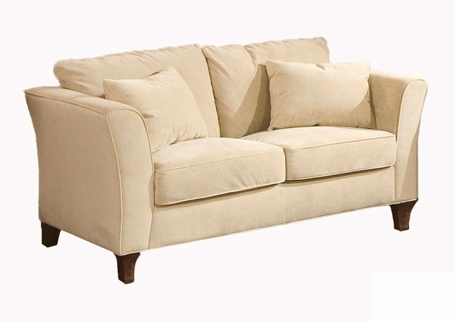 Coaster Park Place Cream Loveseat w/ Tapered Arms & Pillows
