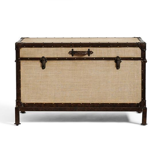 Pottery Barn Redford Vintage Storage Trunk