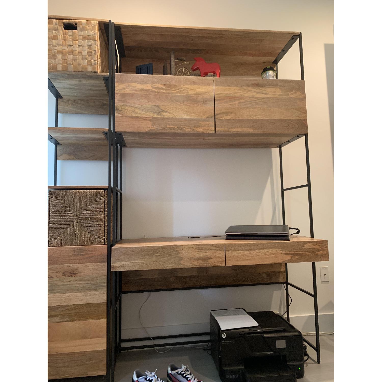 West Elm Industrial Bookcase W Storage Aptdeco