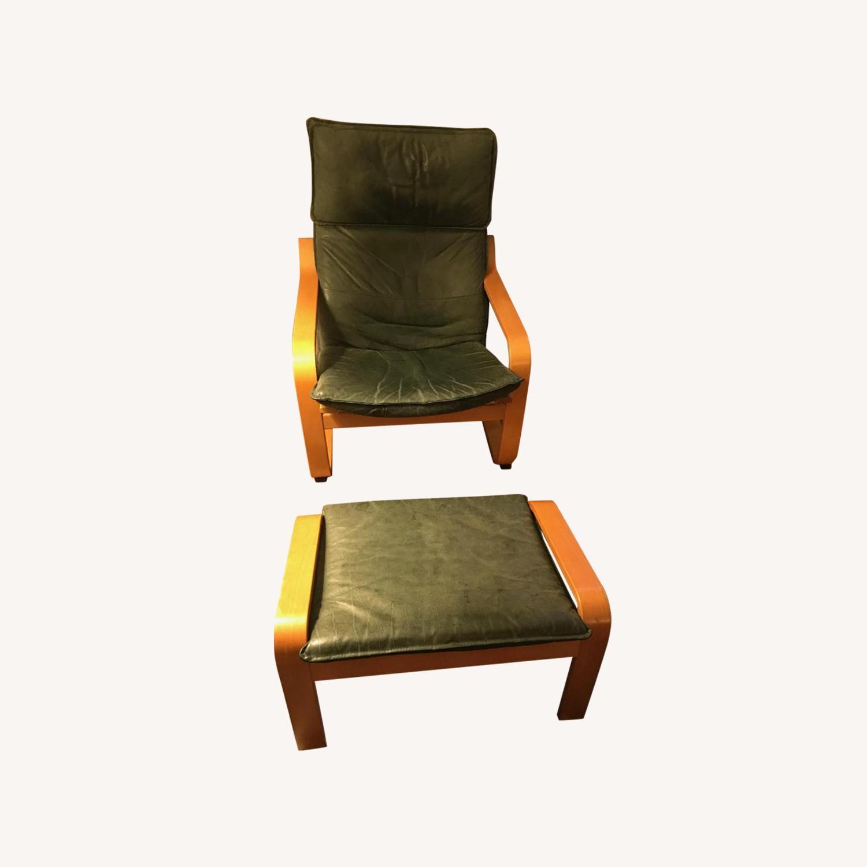 Miraculous Ikea Poang Leather Arm Chair Ottoman Aptdeco Short Links Chair Design For Home Short Linksinfo