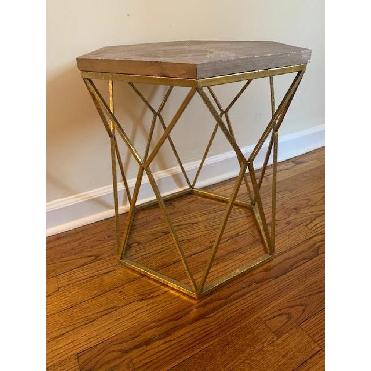 Target Threshold Chester End Tables In Gold Metal Hexagon Aptdeco