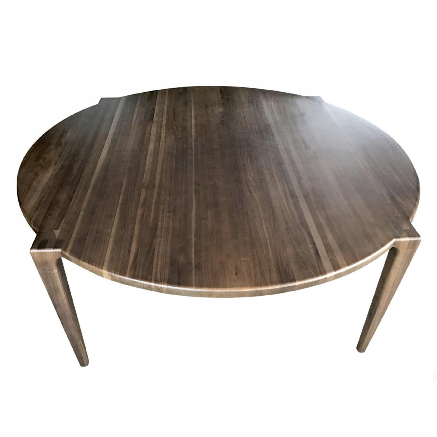 Round Walnut Dining Table - image-0