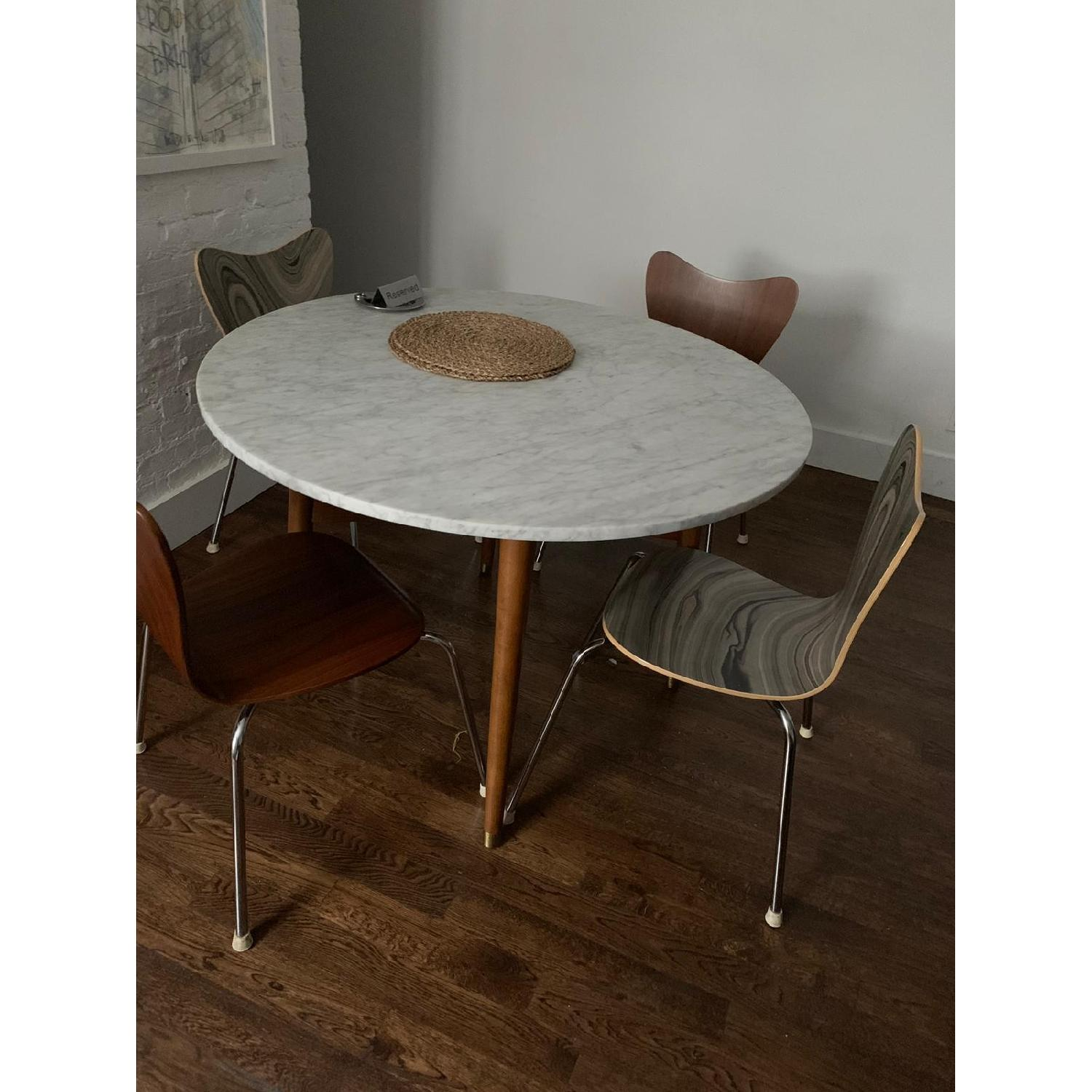 West Elm Marble Top Round Dining Table Aptdeco