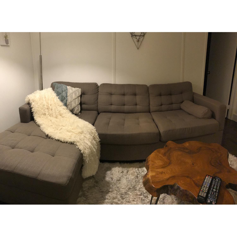 Wondrous Ivy Bronx Broxton Gray Sectional Sofa Aptdeco Beatyapartments Chair Design Images Beatyapartmentscom