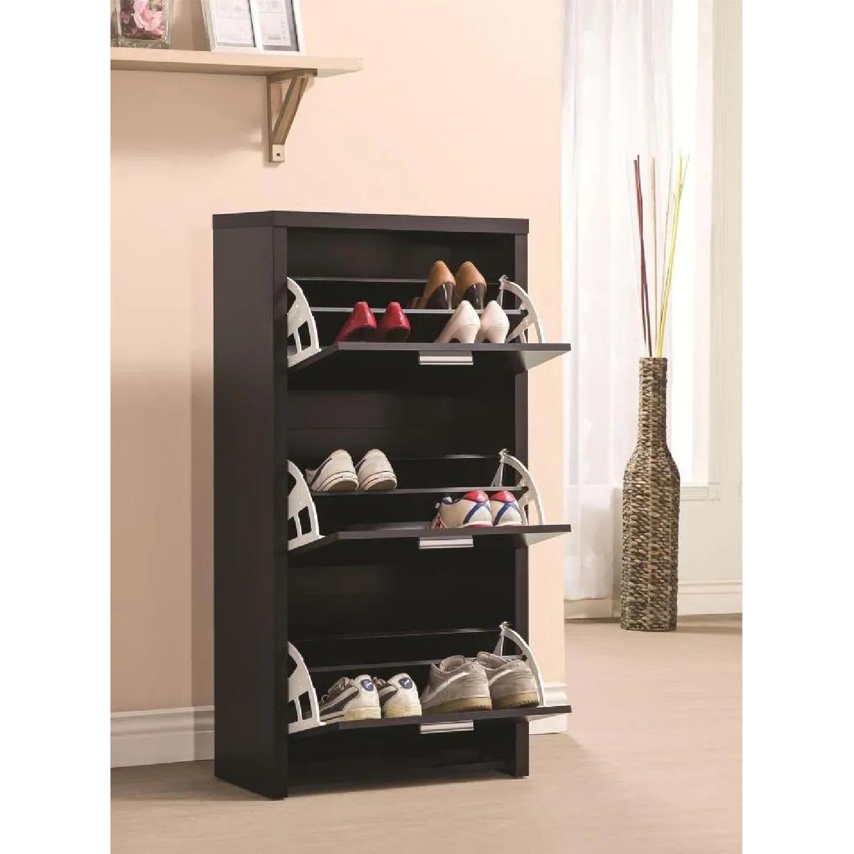 6-Drawer Storage Bench in White & Grey Finish - image-23